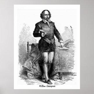 Gravure van William Shakespeare Poster