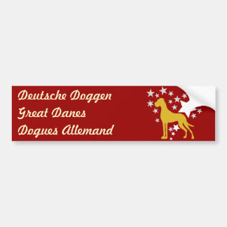 Great dane Heartstar Bumpersticker