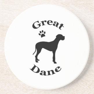 great dane het onderzetter van het hond pawprint s