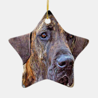 """Great dane "" Keramisch Ster Ornament"