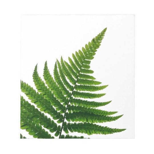 Green Fern Print Woodlands Leaf Notitieblok