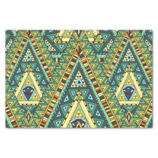 Green yellow boho ethnic pattern