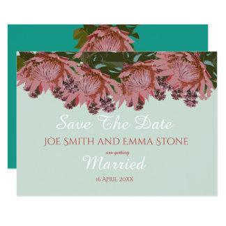 Greens en pinks van Wildflower het Huwelijk Kaart