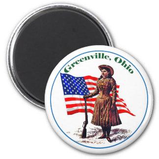 Greenville, Ohio Ronde Magneet 5,7 Cm