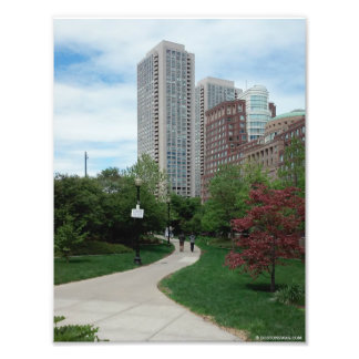 """Greenway in de Zomer"" Boston, doctorandus in de Fotoafdruk"