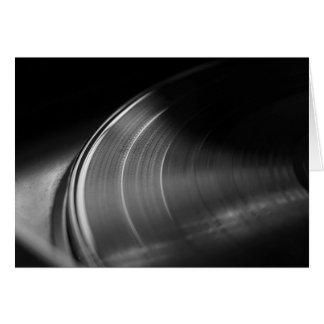 GreetingCard: Vinyl Verslag en Draaischijf Wenskaart