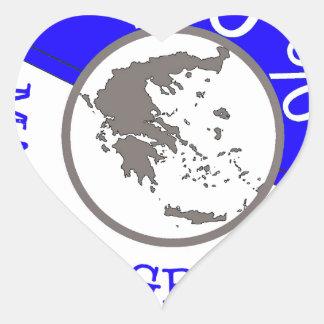 GRIEKENLAND 100% CREST HART STICKER