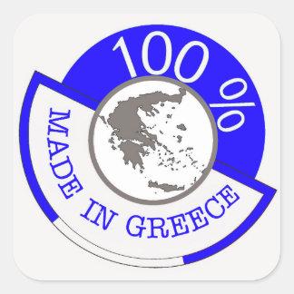 GRIEKENLAND 100% CREST VIERKANTE STICKER
