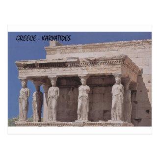 Griekenland Athene Parthenon -parthenon-karyatides Briefkaart