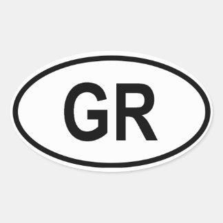 "Griekenland ""gr. "" ovale sticker"