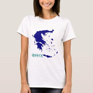 Griekenland map.jpg t shirt