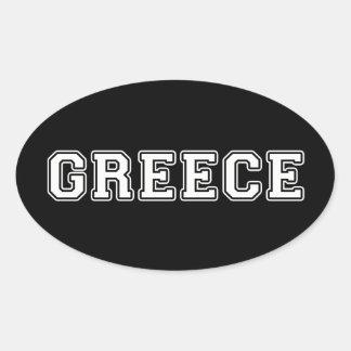 Griekenland Ovale Sticker