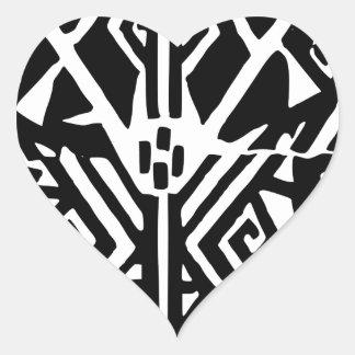 Grieks Patroon Hart Sticker