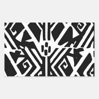 Grieks Patroon Rechthoekige Sticker