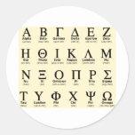 Griekse alfabetgiften ronde stickers