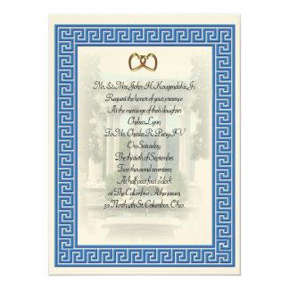 Griekse Blauwe Zeer belangrijke elegant van de Kaart