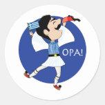 Griekse Evzone die met Vlag OPA dansen! Sticker