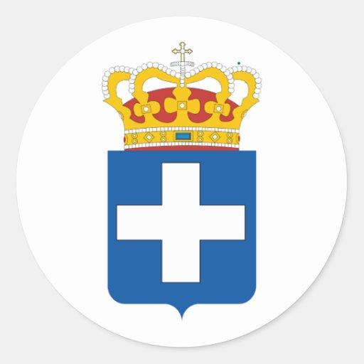 Griekse Koninklijke Wapens, Griekenland Ronde Stickers