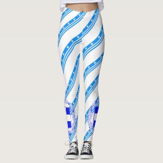 Griekse strepenvlag leggings