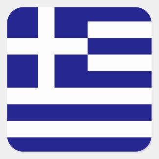 Griekse Vlag Vierkante Sticker