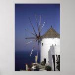 Griekse Windmolen Poster