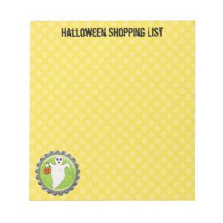 Griezelig Spook Halloween Winkelende 5.5 x 6 Notitieblok