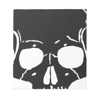 Griezelig van het Skelet van het Bot van het Been Notitieblok