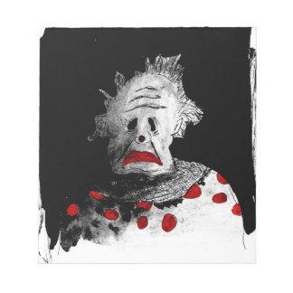 Griezelige clown notitieblok