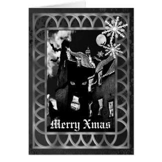 Griezelige gotische Kerstmis Briefkaarten 0