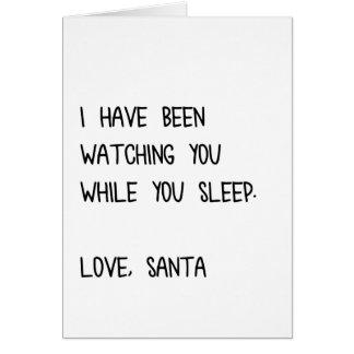 Griezelige Kerstman Kaart