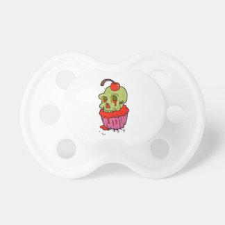 griezelige schedel cupcake cartoon baby speentje