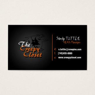 Griezelige zwart en Sinaasappel Visitekaartjes