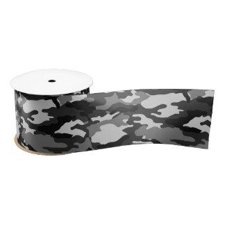 Grijs camouflageLint Satijnen Lint