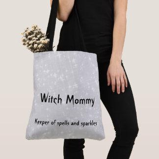 Grijs/de grijze Mama van de heks ontwerpt sparkly Draagtas
