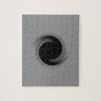 Grijs die zwart gat wervelen foto puzzels