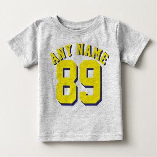 Grijs & Geel Baby | Ontwerp van Jersey van Sporten Baby T Shirts