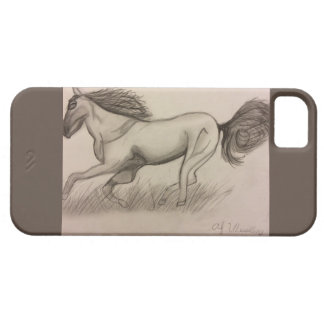 Grijs Paard Barely There iPhone 5 Hoesje