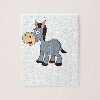 grijs paardart. puzzel