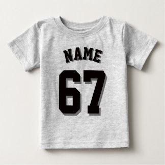 Grijs & Zwart Baby | Sporten Jersey Baby T Shirts