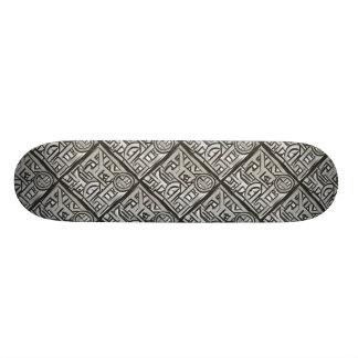 Grijs Zwart Weefsel geometrisch-Abstract Patroon 21,6 Cm Skateboard Deck