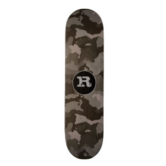 Grijze Camouflage w/Monogram 19,7 Cm Skateboard Deck