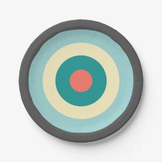 Grijze Combinatie Bullseye Papieren Bordje