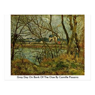 Grijze Dag op Bank van de Oise door Camille Briefkaart