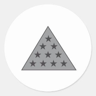 Grijze de Piramide van de sigma Pi Ronde Sticker