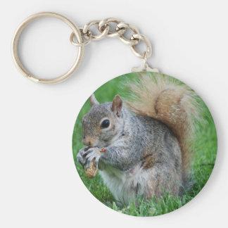 Grijze Eekhoorn Keychain Sleutelhanger