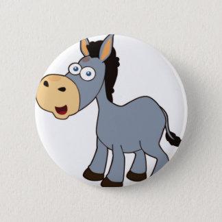 grijze ezel ronde button 5,7 cm