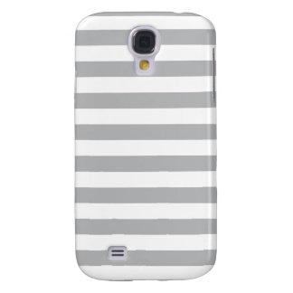 Grijze Horizontale Strepen Galaxy S4 Hoesje