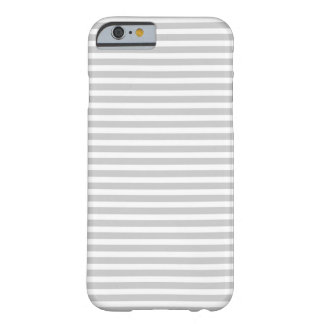 Grijze Magere Strepen Barely There iPhone 6 Hoesje