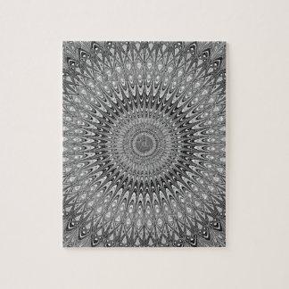 Grijze mandala foto puzzels