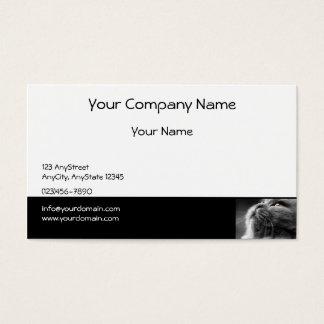 Grijze Perzische kat op Zwarte Grens Visitekaartjes